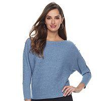 Women's Jennifer Lopez Ribbed Dolman Sweater