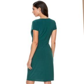 Women's Jennifer Lopez Asymmetrical Faux-Wrap Dress