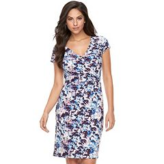 Women's Jennifer Lopez Asymmetrical Faux-Wrap Dress