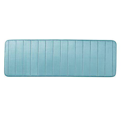 VCNY Gardenia Memory Foam Bath Rug Runner