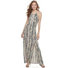 Juniors' Candie's® Print Halter Maxi Dress