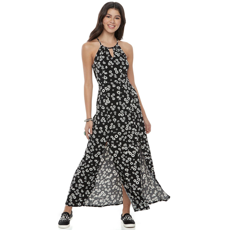 Floor length black dress in juniors