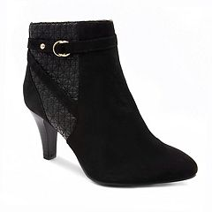 London Fog Iron Women's High Heel Ankle Boots