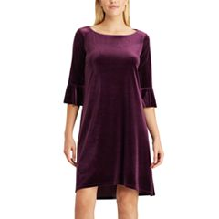 Women's Chaps Velvet Bell-Sleeve Sheath Dress