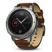 Garmin fenix Chronos GPS Watch with Leather Watch Band