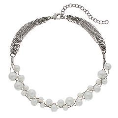 Simply Vera Vera Wang Simulated Pearl Choker Necklace