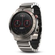 Garmin f?nix Chronos Premium Multisport GPS Smartwatch with Brushed Titanium Hybrid Band