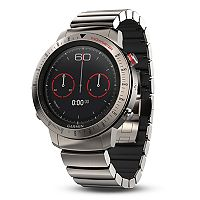 Garmin fenix Chronos GPS Watch with Brushed Titanium Hybrid Watch Band