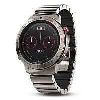 Garmin fenix Chronos GPS Watch with Brushed Titanium Hybrid Watch Band