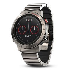 Garmin fēnix Chronos Premium Multisport GPS Smartwatch with Brushed Titanium Hybrid Band