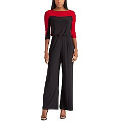 Petite Chaps Colorblock Wide-Leg Jumpsuit
