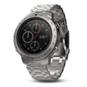 Garmin f?nix Chronos Premium Multisport GPS Smartwatch with Brushed Stainless Steel Band