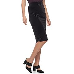 Women's Double Click Velvet Pencil Skirt