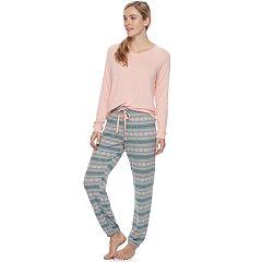 Women's SONOMA Goods for Life™ Pajamas: Long Sleeve Top & Pants 2 pc PJ Set