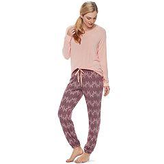 Women's SONOMA Goods for Life™ Pajamas: Long Sleeve Top & Pants 2-Piece PJ Set
