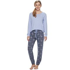 Women's SONOMA Goods for Life™ Pajamas: Long Sleeve Top & Pants 2-Piece PJ Set