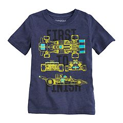 Boys 4-10 Jumping Beans® Race Cars 'First To Finish' Graphic Tee