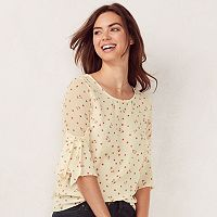 Women's LC Lauren Conrad Crepe Bow Top