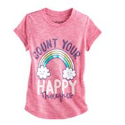 Toddler Girl Jumping Beans® 'Count Your Happy Thoughts' Rainbow Graphic Tee