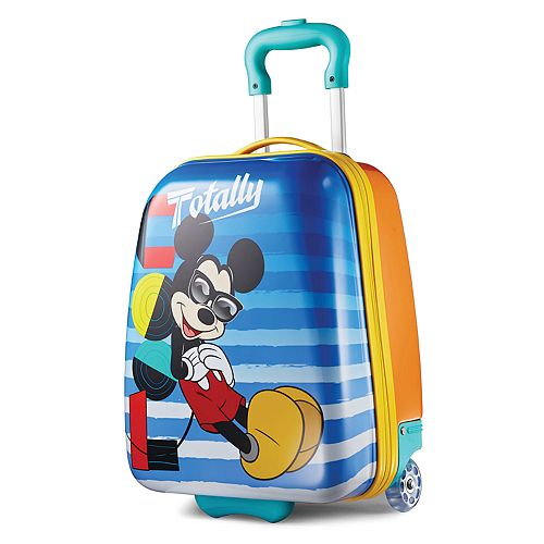 Disney Mickey Mouse 18-Inch Hardside Wheeled Luggage by American Tourister