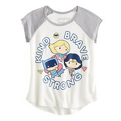 Toddler Girl Jumping Beans® DC Comics Batman, Wonder Woman & Super Girl 'Kind Brave Strong' Graphic Tee
