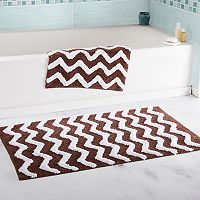 Portsmouth Home 2 pc Chevron Bath Mat Set