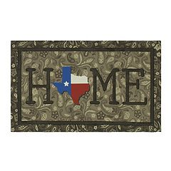 Mohawk® Home Texas Bandana 'Home' Rubber Doormat - 18' x 30'