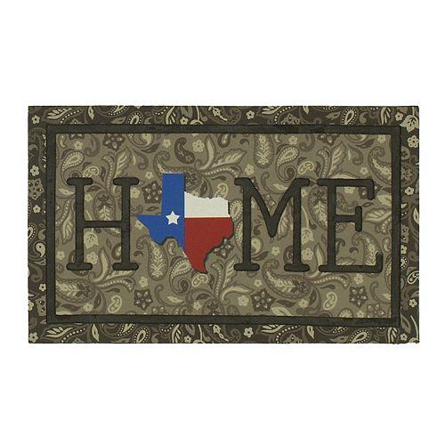 "Mohawk® Home Texas Bandana ""Home"" Rubber Doormat - 18"" x 30"""