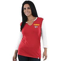 Women's Majestic Kansas City Chiefs Back Logo Tee