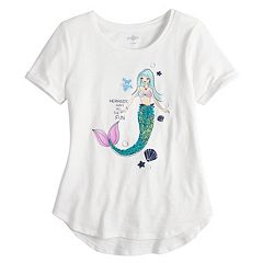 Girls 7-16 & Plus Size SO® Flip Sequin Rolled Cuff Tee