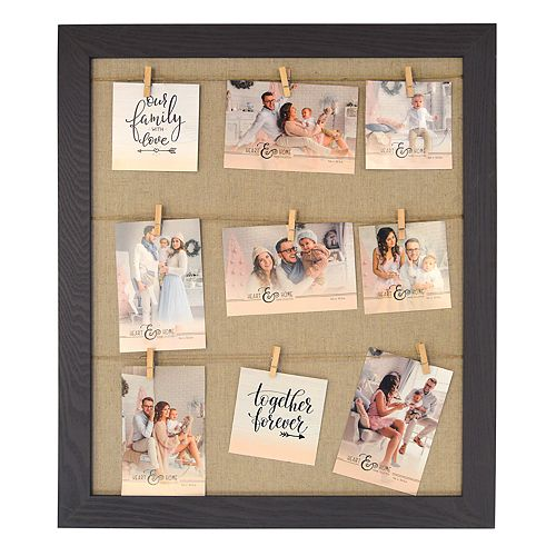 New View 9-Opening Clothespin Collage Frame