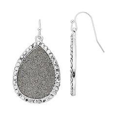 Jennifer Lopez Simulated Stone Glitter Teardrop Earrings
