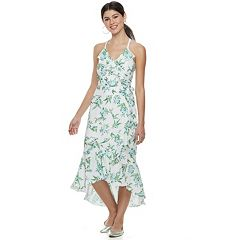 Disney Princess Juniors' Floral Ruffle Midi Dress