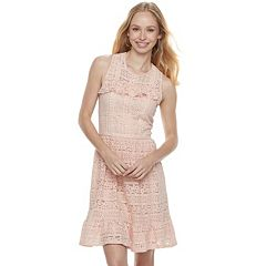Disney Princess Juniors' Eyelet Lace Ruffle Dress