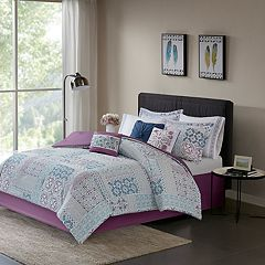 Madison Park Alexandra Cotton Percale Duvet Cover Set