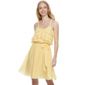 Disney Princess Juniors' Ruffle Fit & Flare Dress