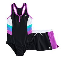 Girls 7-16 & Plus Size ZeroXposur Colorblock One-Piece With Shorts