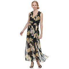 Disney Princess Juniors' Floral Surplice Maxi Dress