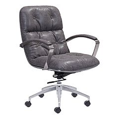 Zuo Modern Avenue Faux-Leather Adjustable Desk Chair