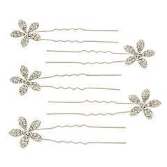 Mudd® Simulated Crystal Flower Detail Bobby Pin Set