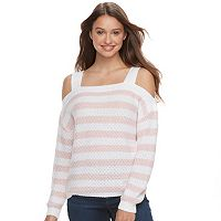 Juniors' SO® Cold-Shoulder Long Sleeve Top