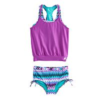 Girls 7-16 ZeroXposur Tribal Print Blouson Bikini Set