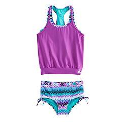 Girls 7-16 ZeroXposur Tribal Print Blouson Bikini Set