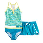 Girls 7-16 ZeroXposur 3 pc Tankini Set