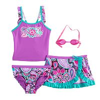 Girls 4-6x ZeroXposur Paisley Tankini Top, Bottoms & Skirt Swimsuit Set