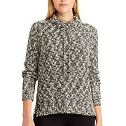 Women's Chaps Marled Funnel Neck Sweater