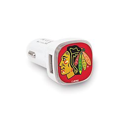 Chicago Blackhawks 2-Port Cellphone Car Charger