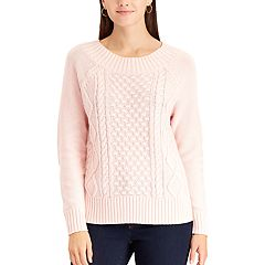 Women's Chaps Cable-Knit Crewneck Sweater