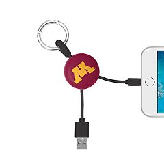 Minnesota Golden Gophers Keychain Portable Charging Lightning Cable