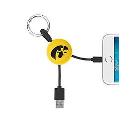 Iowa Hawkeyes Keychain Portable Charging Lightning Cable